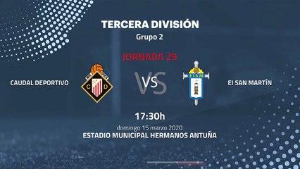 Previa partido entre Caudal Deportivo y EI San Martín Jornada 29 Tercera División