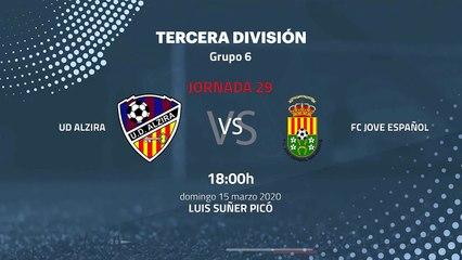 Previa partido entre UD Alzira y FC Jove Español Jornada 29 Tercera División