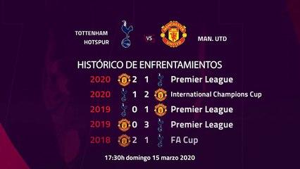 Previa partido entre Tottenham Hotspur y Man. Utd Jornada 30 Premier League