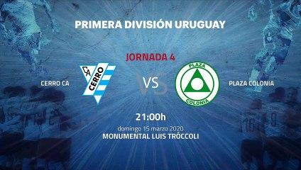Previa partido entre Cerro CA y Plaza Colonia Jornada 4 Apertura Uruguay