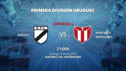 Previa partido entre Danubio y River Plate Montevideo Jornada 4 Apertura Uruguay