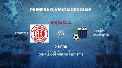 Previa partido entre Rentistas y Liverpool Montevideo Jornada 4 Apertura Uruguay