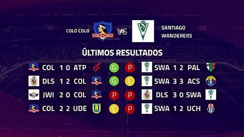 Previa partido entre Colo Colo y Santiago Wanderers Jornada 8 Primera Chile