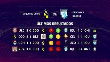 Previa partido entre Coquimbo Unido y Deportes Iquique Jornada 8 Primera Chile