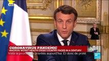 Macron addresses France amid coronavirus pandemic