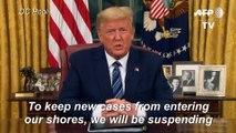 Trump suspends travel from Europe to US in coronavirus crisis