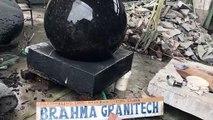 black granite ball,rolling ball fountain,ball fountain,sphere fountain,granite ball,kugel ball