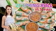 How to Make Spring Rolls - Fresh Spring Rolls Recipe With Chef Vanessa - Asmr Cooking By GO & TASTE
