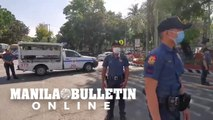 Manila police conduct a dry run of a lockdown of the city of Manila