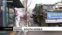 شاهد: تعقيم محطة الحافلات في العاصمة الكورية الجنوبية سيول