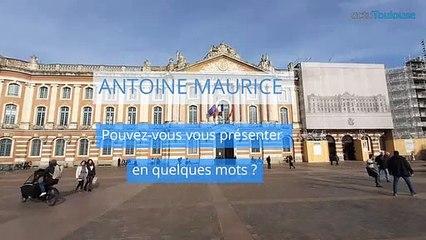 Antoine Maurice, candidat d'Archipel citoyen, pour les Municipales à Toulouse