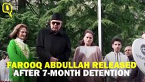 'I Am Free': Farooq Abdullah Released After 7 Months of Detention