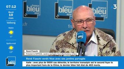 René Fiaschi Président d'APPESE, Jardins Partagés Saint Barthélémy à Nice