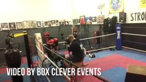 Cancer survivor enters the boxing ring in his wheelchair