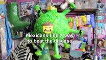 Mexican artisan makes a COVID-19 piñata