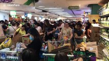 Philippine shoppers panic shop after their government declared a state of calamity