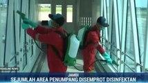 Bandara Sultan Thaha Jambi Disemprot Disinfektan Cegah Penyebaran Covid-19