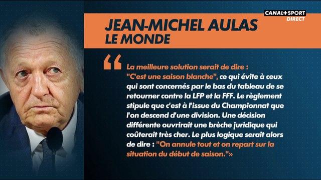 La proposition de Jean-Michel Aulas pour la fin de saison de Ligue 1