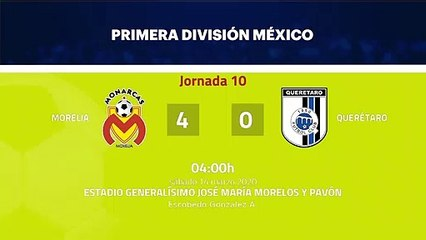 Resumen partido entre Morelia y Querétaro Jornada 10 Liga MX - Clausura