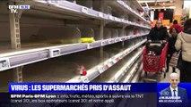 Coronavirus: par peur du manque, des supermarchés pris d'assaut