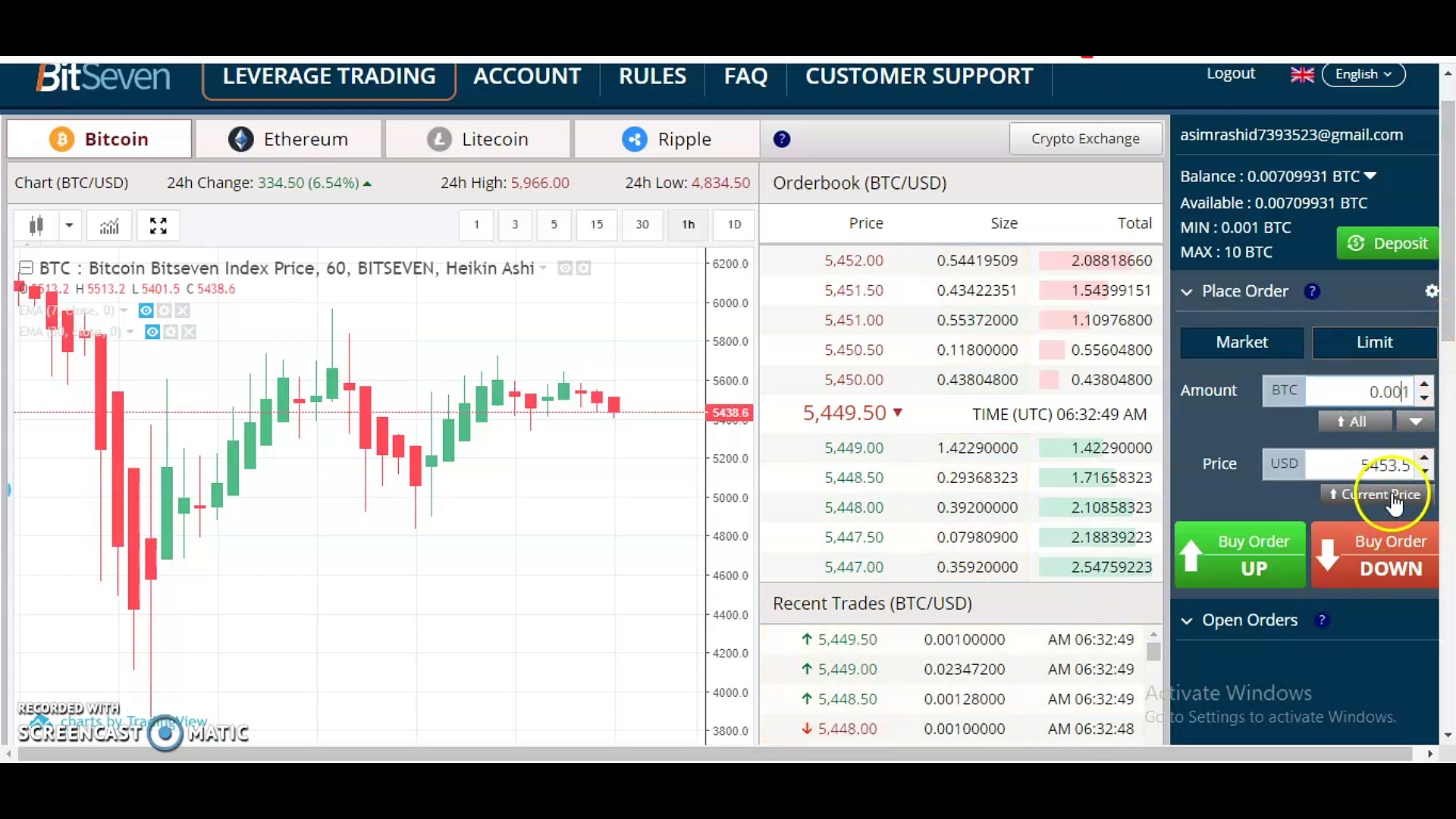 How to Start  Bitcoin Trading in BitSeven Exchange | How to Make Your First Trade in Bitseven |