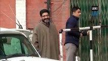 Farooq Abdullah meets under detention son Omar in Srinagar