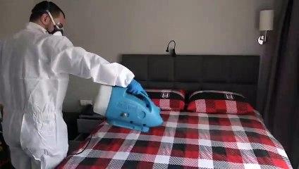 Beşiktaş, koronavirüs salgınına karşı dezenfekte çalışması yaptı