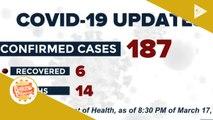 NEWS & VIEWS: Bilang ng kaso ng CoVID-19 sa bansa, umakyat na sa 187; State of calamity, idineklara na sa buong bansa dahil sa CoVID-19