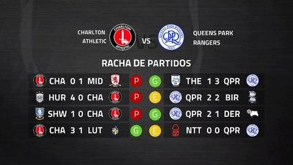 Previa partido entre Charlton Athletic y Queens Park Rangers Jornada 39 Championship