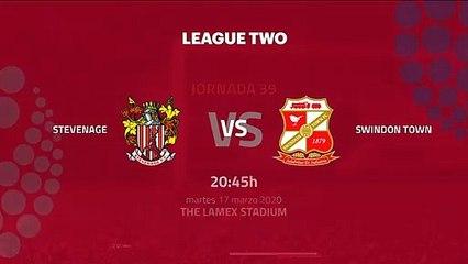 Previa partido entre Stevenage y Swindon Town Jornada 39 League Two