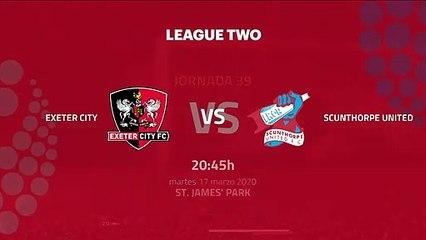 Previa partido entre Exeter City y Scunthorpe United Jornada 39 League Two
