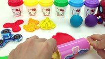 Learn Color with 6 Colors with Hello Kitty Dough and Marvel Avengers Cookie Molds Surprise Toys LEGO