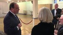 Municipales: François Hollande vient de voter à Tulle