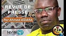 ZikFM - Revue de presse Ahmed Aidara du Lundi 16 Mars 2020