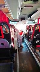 Şehirlerarası otobüs terminallerinde koronavirüse karşı önlem