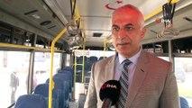 Özel halk otobüsleri korona virüsüne karşı dezenfekte ediliyor