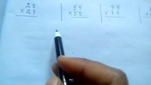 25×25=?  35×35=?  ....   95×95=?  Solve this through this easiest method (in Bengali)