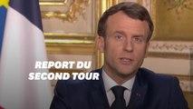"""Macron discours 16 mars: """"Le second tour des municipales est reporté"""""""