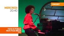 Le concert Face au Public de Marie-Paule Belle, jamais diffusée en France, depuis 1986, sur TV Melody, mercredi soir à 20h40