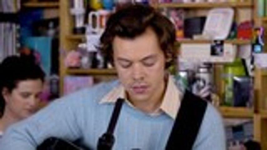 Harry Styles Takes Over NPR's Tiny Desk Concert | Billboard News