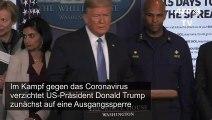Trump hält Ausgangssperre nicht für notwendig