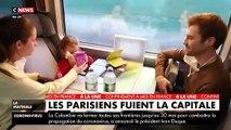 VIRUS - Quelques heures avant le début du confinement, des Parisiens quittent la capitale pour rejoindre les villes de province - VIDEO