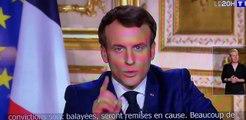 Discours d'Emmanuel Macron avec la musique d'Independance Day