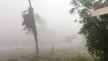 Heavy Rainfall And Strong Wind During Cyclone Reduces Visibility