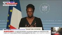 """Sibeth Ndiaye rappelle que """"la transmission du virus n'est pas aérienne"""""""