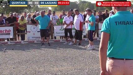 National à pétanque de Bourbon-Lancy 2019 :  16ème QUINTAIS vs DE LAZZARI