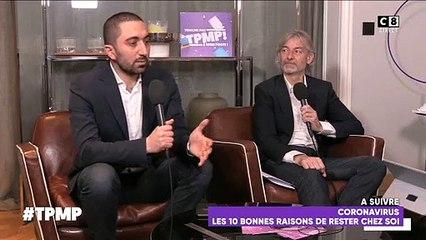 """Depuis 17h45, Cyril Hanouna réalise son émission """"Touche pas à mon poste"""" lui-même depuis son appartement en direct sur C8"""