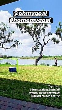 Le Home My Goal Challenge génial de Nani