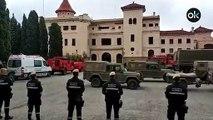 Así suena el himno de España en el cuartel de Barcelona que los separatistas quieren cerrar