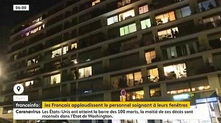 Frissons : Hier soir à 20h, dans plusieurs villes de France, la population a applaudi les personnel soignant depuis les balcons